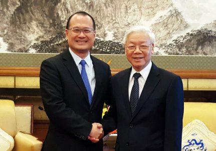 Tổng Bí thư Đảng Cộng sản Việt Nam Nguyễn Phú Trọng tiếp Chủ tịch Sunwah