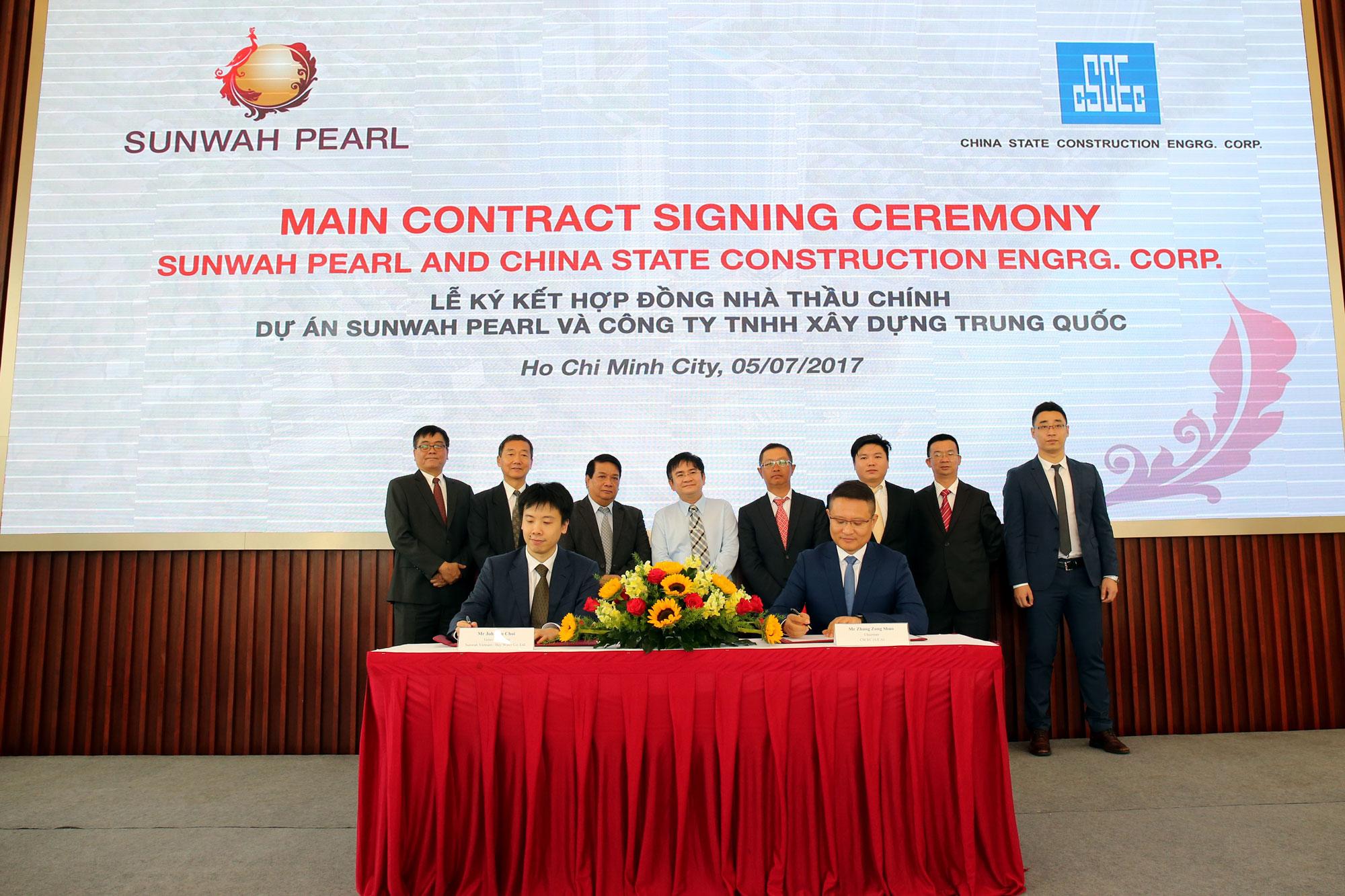 Tập đoàn Sunwah kí kết Hợp đồng Nhà thầu chính cho Dự án Sunwah Pearl với Công ty TNHH Xây dựng Trung Quốc (CSCEC)