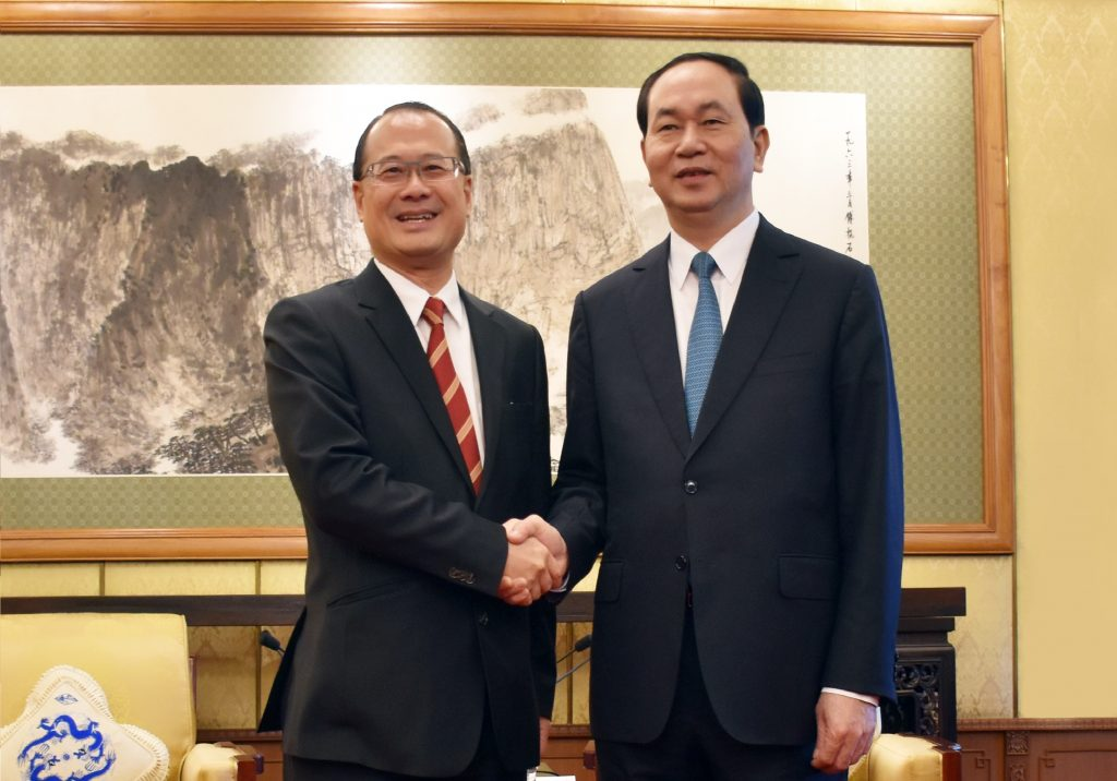 Chủ tịch nước Việt Nam Trần Đại Quang tiếp Tiến sĩ Jonathan Choi tại Bắc Kinh, Trung Quốc